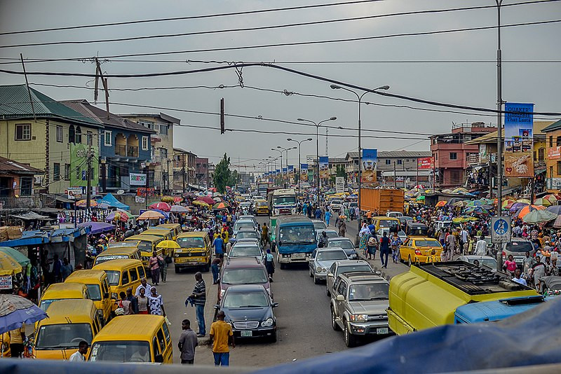 Transport scene in Lagos