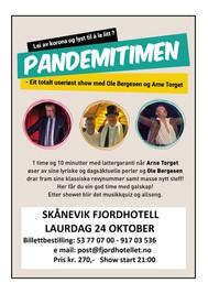 24. OKTOBER: Pandemitimen med Ole Bergesen og Arne Torget