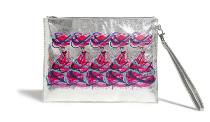 Charlotte Posner's Graffiti Leather Pouch.jpeg