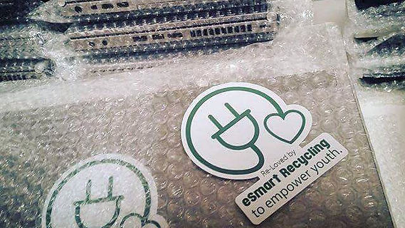 eSmart Recycling laptops packaged in bubble wrap