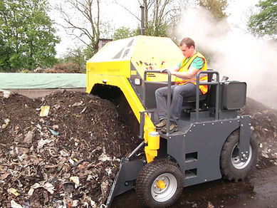 volteadora de compost