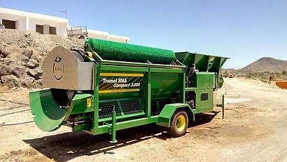 Tromel de afino compost