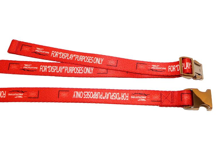 "0.75"" Red Prototype Belt- Gold Buckle"