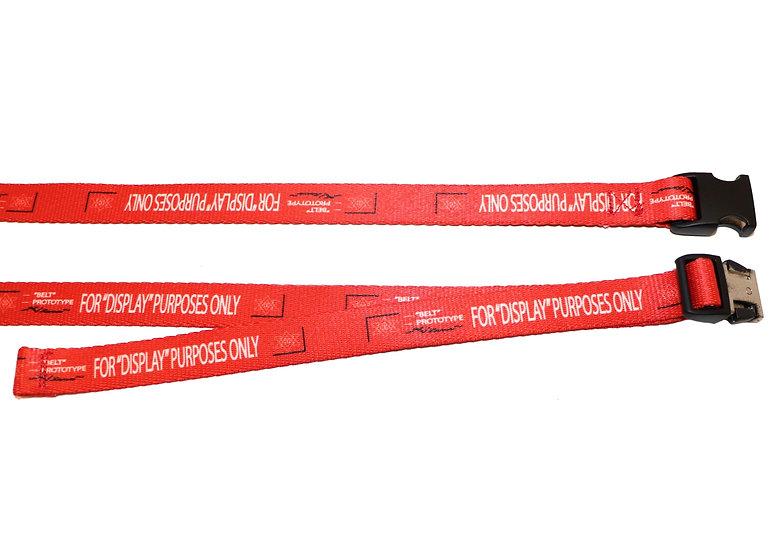 """0.75"""" Red Prototype Belt- Black Buckle"""