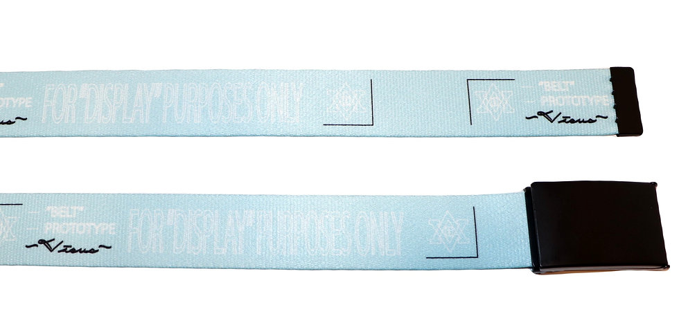 "1.5"" Sky Blue Prototype Belt- Black Buckle"