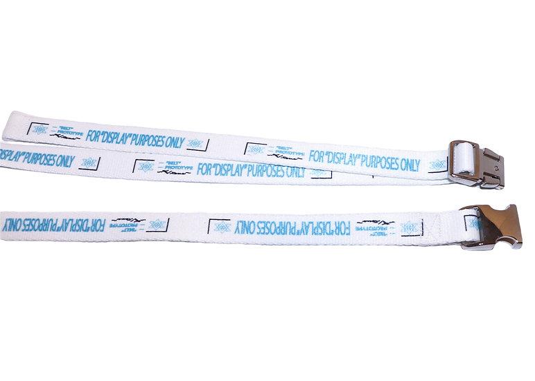 "0.75"" White Prototype Belt- Silver Buckle"