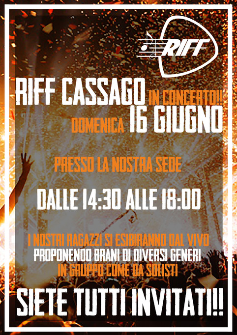 PRIMO SAGGIO DI RIFF CASSAGO!!!