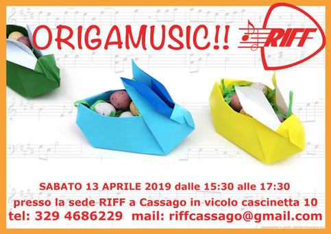 Nuovo appuntamento con origamusic!!