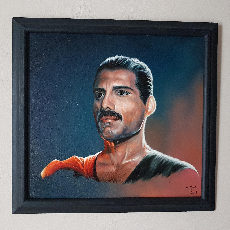 Freddie, framed