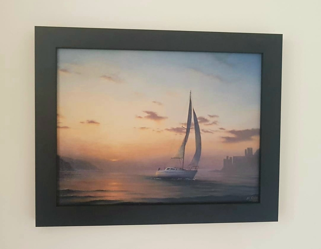 Graham's Boat, framed