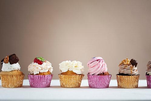 12 cupcakes - variatie