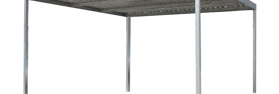 Light Steel 3m x 3m with 3.6m posts Galvanised Carport Kit