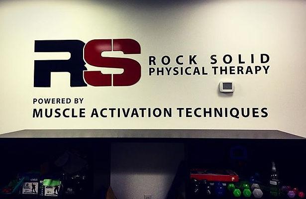 New signage put up at _rocksolidptmat #denver #mat #physicaltherapy