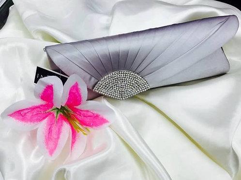 Elegant Grey Clutch