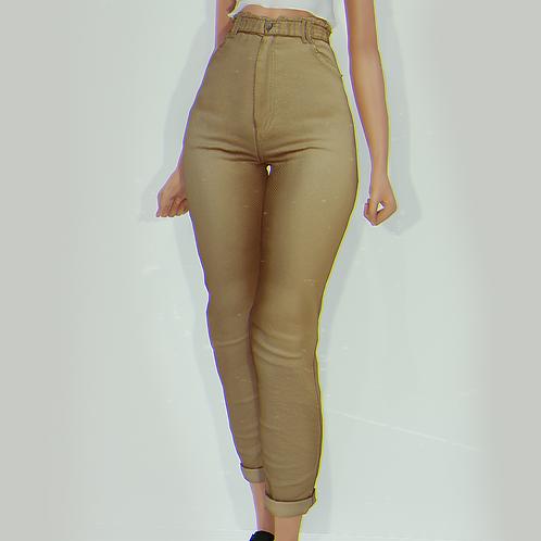 Ruffle Waist Jeans