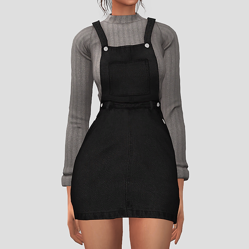 Sweater overall dress