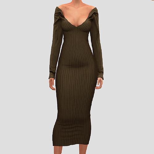 Tight dress long sleeve