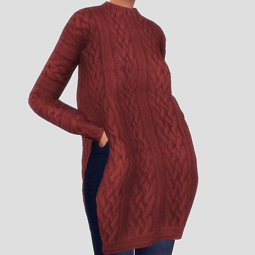 Long Side Cut Sweater