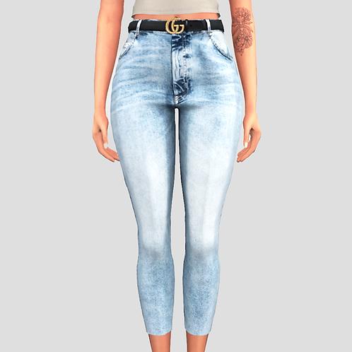 Jeans Gucci belt