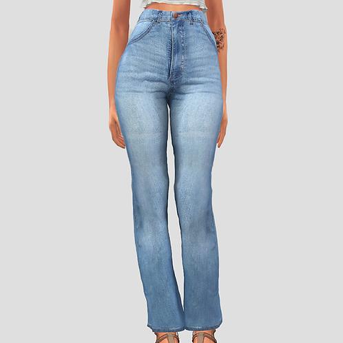 High waist wide jeans
