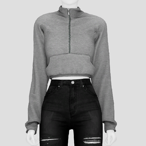 Cropped sports hoodie