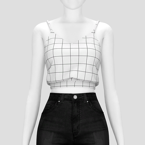 Knot cropped tank