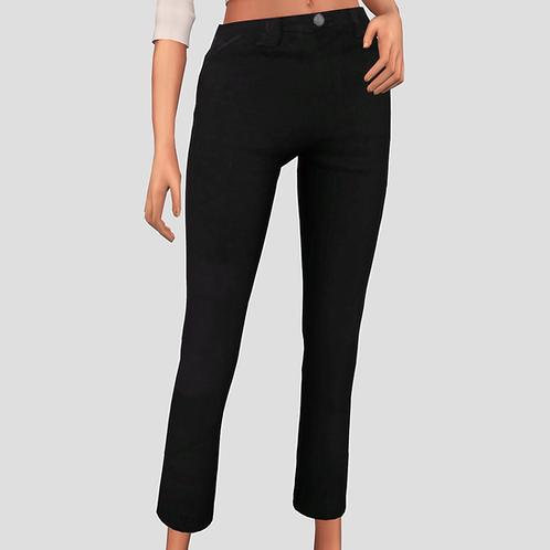 Wide-Leg Cropped Pants