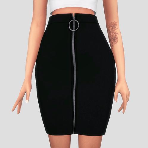 Round zipper skirt
