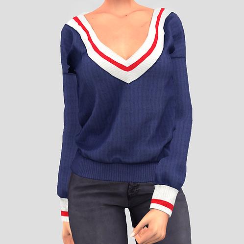 V-Neck college sweater V2