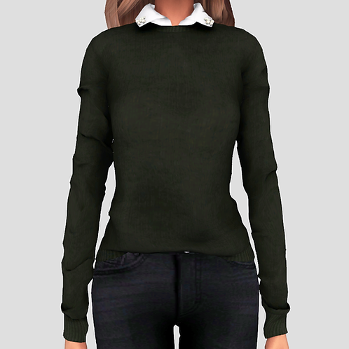 Pearl collar sweater