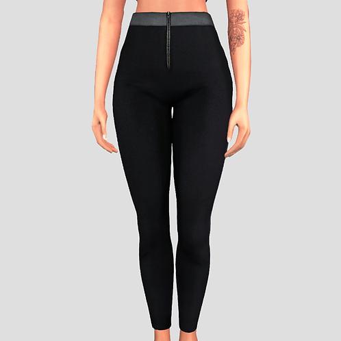 Front zip leggings
