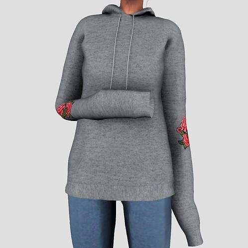 Drop Shoulder Long Hoodie