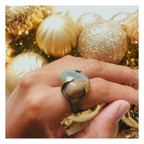 Ana Ring(banded agate)