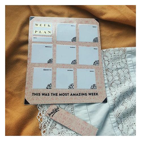 Week Plan Board & Bookmark