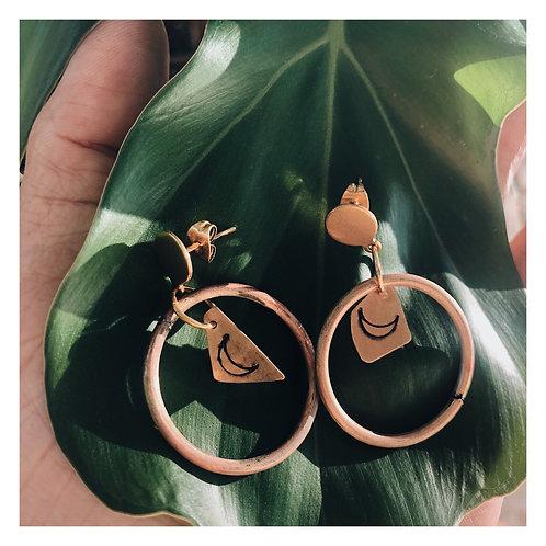 Dai Round Hoops Copper & Brass Moon