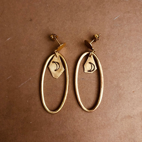 Dai Oval Hoops Brass & Copper Moon