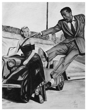 Marilyn Monroe and Sammy Davis Jr. Circa 1952