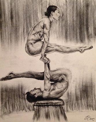 Couples Yoga Pose #1