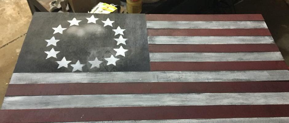Wooden Flag
