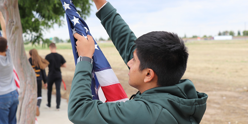 Flags over Manteca on 9/11