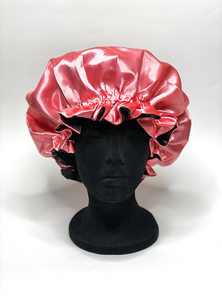 Rose Pink Ruffled Bonnet