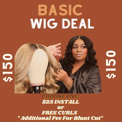 Basic Custom Wig Unit Deal