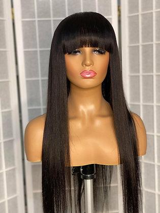 Full Bang Glueless Wig Unit