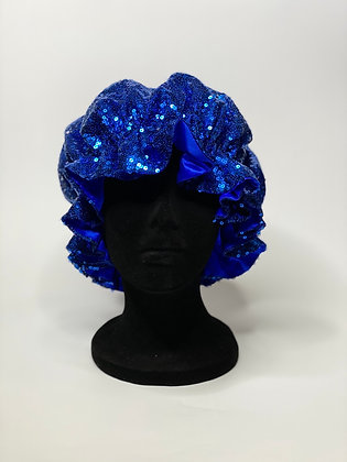 Le Bleu Ruffled Bonnet