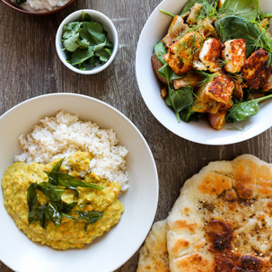 Butternut Squash Dhal with Coconut Flatbreads