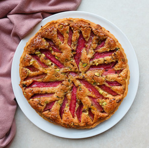 Rhubarb and Ginger Frangipane Tart