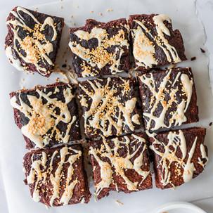 Vegan Tahini Chocolate Brownies
