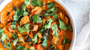 Eggplant & Tomato Tamarind Coconut Curry