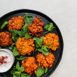 Turmeric Carrot and Apricot Fritters