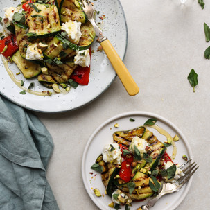 Za'atar Grilled Courgettes and Honey Ricotta